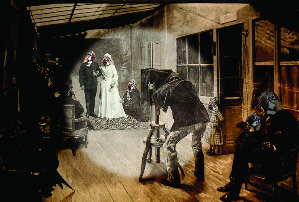 Wedding Party at the Photographic Studio  ©  Charlotte Cory